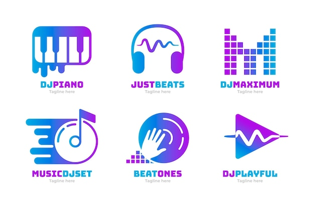 Gradient dj-logo-collectie