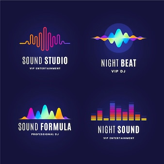 Gradient dj logo-collectie