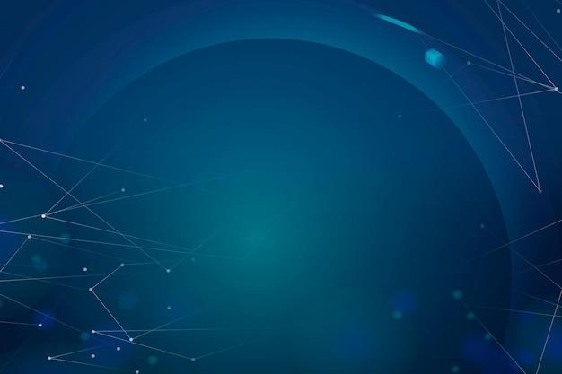 Gradiënt donkerblauwe vector futuristische digitale achtergrond