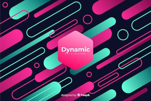 Gradiënt dynamisch achtergrond vlak ontwerp