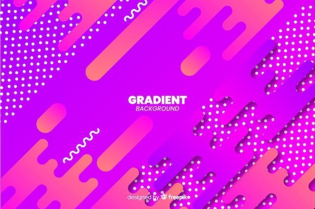 Gradiënt dynamische abstracte vormen achtergrond