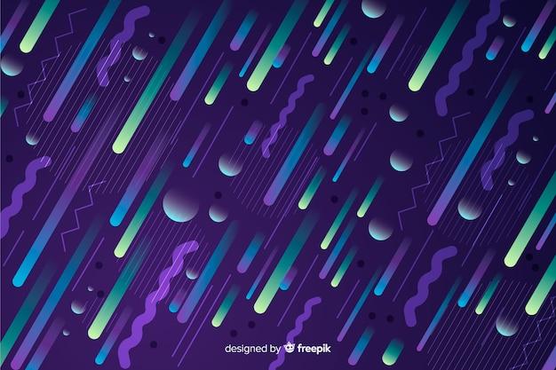 Gradiënt dynamische achtergrond met diagonale elementen
