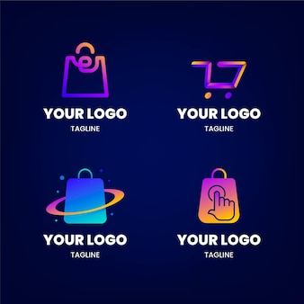 Gradient e-commerce logo-collectie
