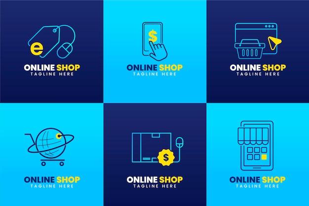 Gradient e-commerce logo's pakket