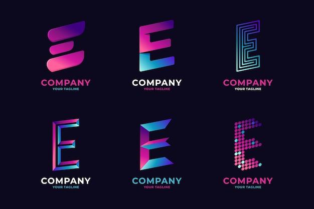 Gradient e-logo sjablonen