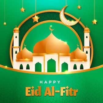 Gradiënt eid al-fitr - hari raya aidilfitri illustratie