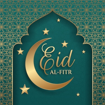 Gradient eid al-fitr illustratie
