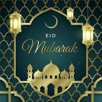 Gradient eid al-fitr illustratie