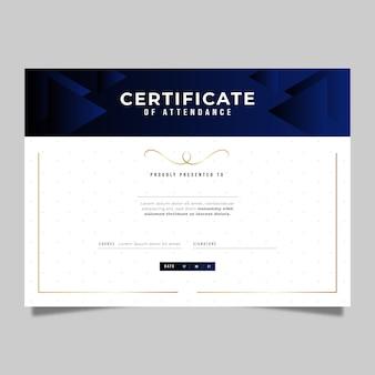 Gradiënt elegant certificaat van deelname