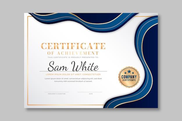 Gradiënt elegant certificaat