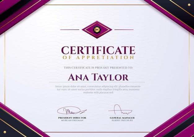 Gradient elegant certificaat
