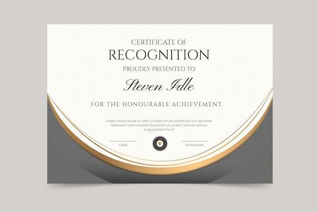 Gradient elegant certificaatsjabloon