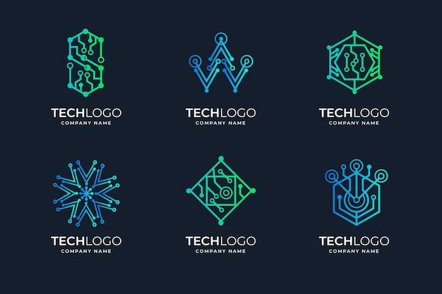 Gradient elektronica logo-collectie