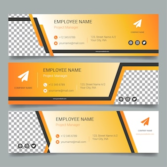 Gradient email signature collection