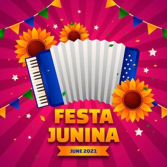 Gradient festa junina illustratie