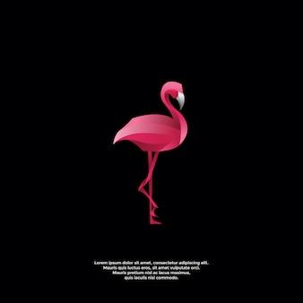 Gradiënt flamingo logo sjabloon