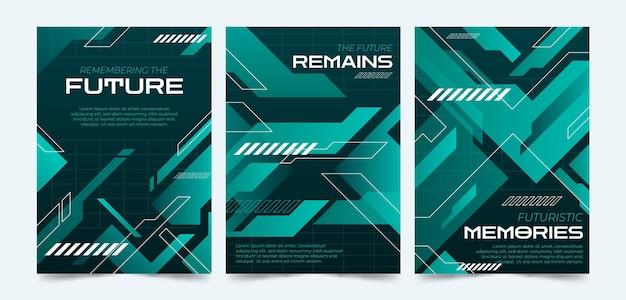 Gradient futuristische covercollectie