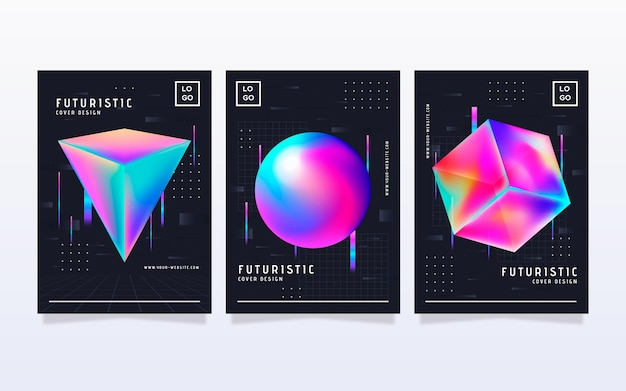 Gradient futuristische covercollectie