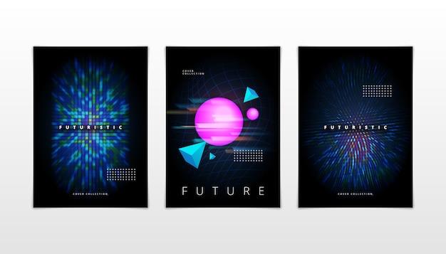 Gradient futuristische omslagset