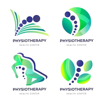 Gradiënt fysiotherapie logo set