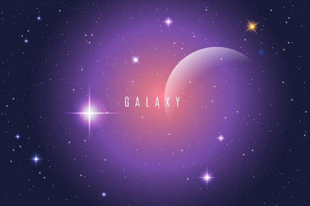 Gradient galaxy achtergrond