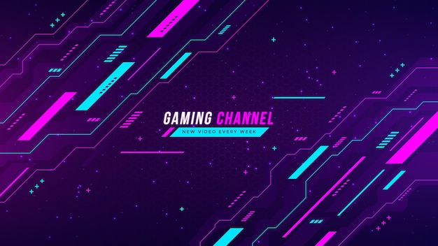 Gradient gaming youtube channel art