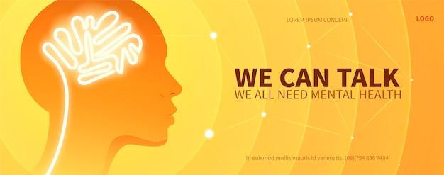 Gradiënt geestelijke gezondheid facebook omslag