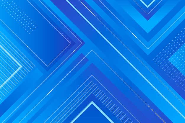 Gradiënt gekleurde achtergrond met geometrische vormen