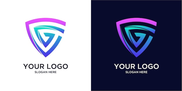 Gradiënt gekleurde g-logo's