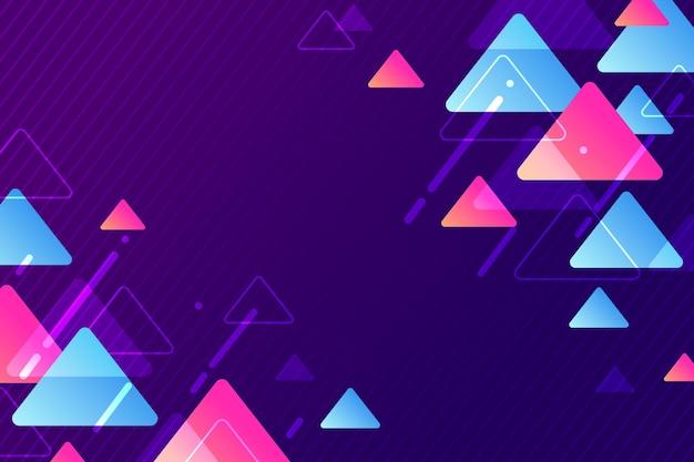Gradient geometrische vormen behang
