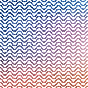 Gradiënt golven patroon, abstracte geometrische achtergrond. luxe en elegante stijlillustratie
