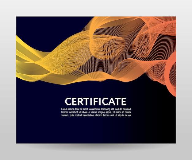 Gradiënt golven sjabloon certificaat