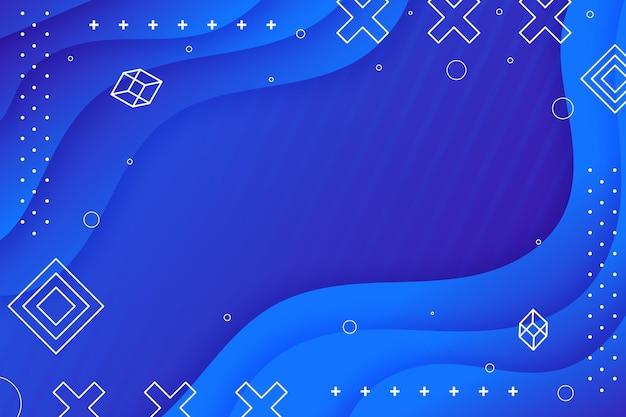 Gradiënt golvende blauwe achtergrond