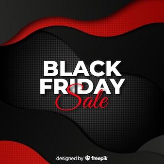 Gradiënt golvende zwarte vrijdag verkoop