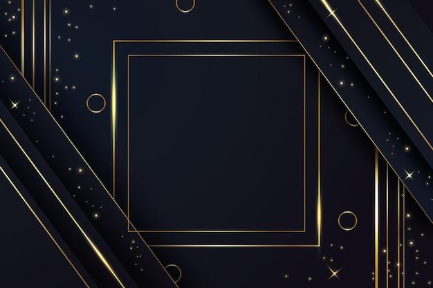 Gradiënt gouden luxe achtergrond Gratis Vector