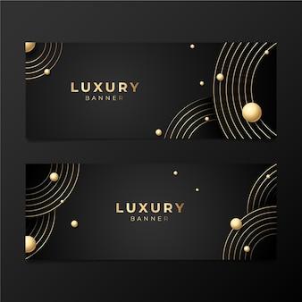 Gradiënt gouden luxe banners