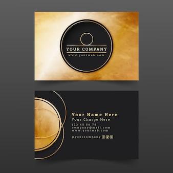 Gradiënt gouden luxe visitekaartjes
