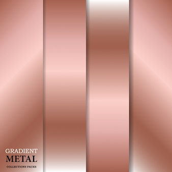 Gradient gouden metalen achtergrond