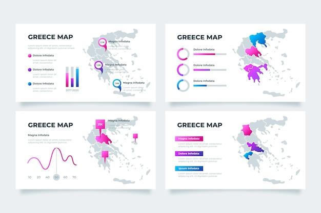 Gradient grece map infographic