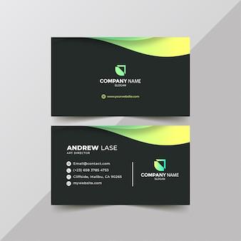 Gradiënt groen visitekaartje