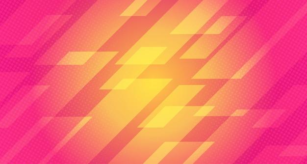 Gradiënt halftone achtergrond met geometrische vorm