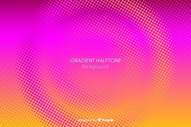 Gradiënt halftone effect kleurrijke achtergrond