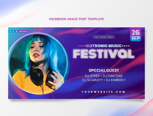 Gradient halftone muziekfestival facebook bericht