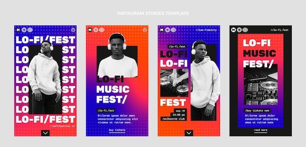 Gradient halftone muziekfestival ig stories