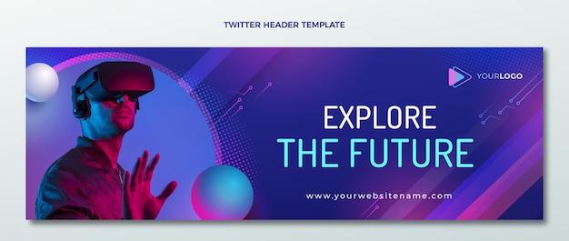 Gradient halftone technologie twitter header