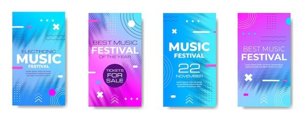 Gradiënt halftoon muziekfestival ig