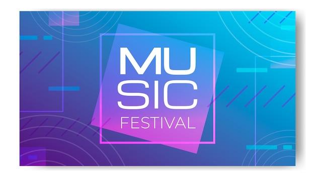 Gradiënt halftoon muziekfestival twitch achtergrond