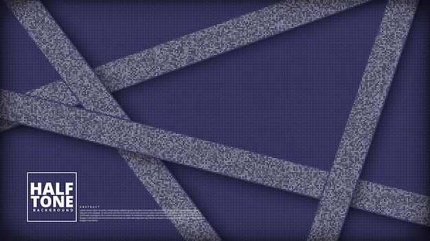 Gradiënt halftoonpatroon diagonaal