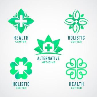 Gradient holistische logo-collectie