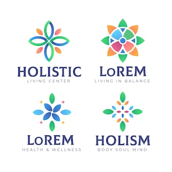 Gradient holistische logo-collectie